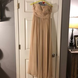 Long bridesmaid/formal chiffon dress